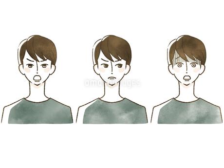 男性-表情のイラスト素材 [FYI04100041]