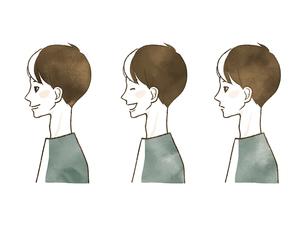 男性-表情(横顔)のイラスト素材 [FYI04100288]