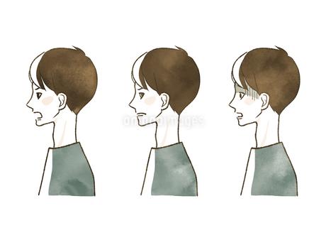 男性-表情(横顔)のイラスト素材 [FYI04100290]