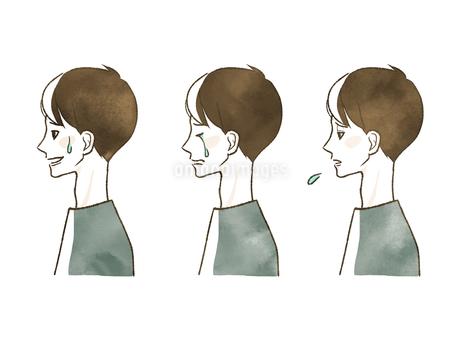 男性-表情(横顔)のイラスト素材 [FYI04100292]
