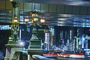 日本橋夜景の写真素材 [FYI04100521]