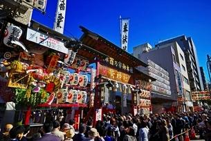 浅草の鷲神社の酉の市の写真素材 [FYI04100629]