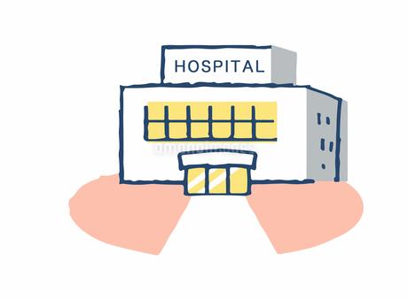 病院イメージ 医者と患者セットのイラスト素材 [FYI04100697]