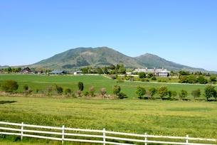 新緑,青空の蒜山高原の写真素材 [FYI04100978]