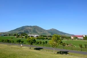新緑,青空の蒜山高原の写真素材 [FYI04100983]