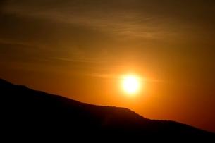 蒜山高原,朝日が昇るの写真素材 [FYI04100998]