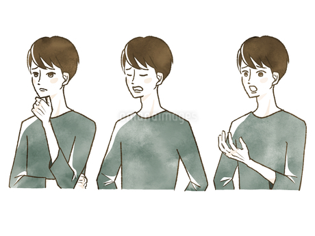 男性-表情のイラスト素材 [FYI04101109]
