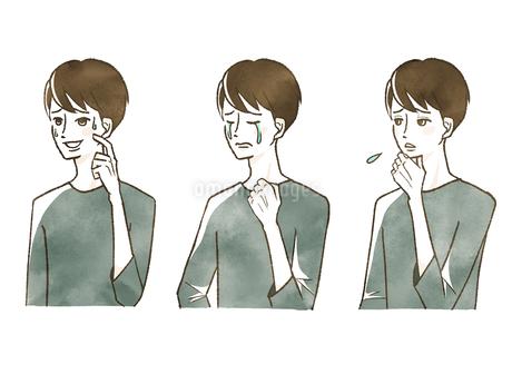 男性-表情のイラスト素材 [FYI04101112]