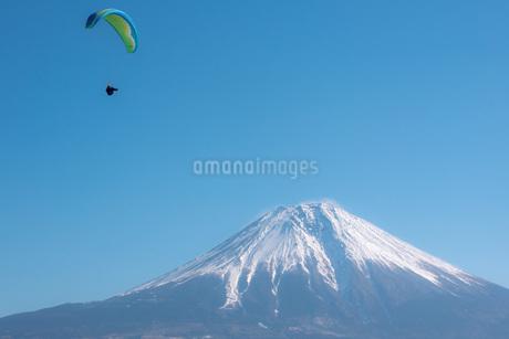 富士山とパラグライダーの写真素材 [FYI04101570]