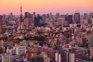 東京タワー夕景の写真素材 [FYI04101711]