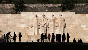 スイス、ジュネーブ、宗教改革記念碑の写真素材 [FYI04101723]