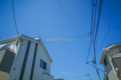 仙台荒井の街並みと青空の写真素材 [FYI04102008]