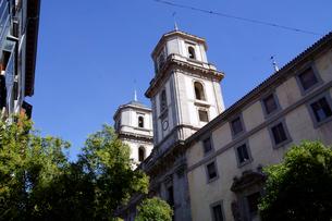 スペイン マドリッドの古い建物の塔の写真素材 [FYI04102152]
