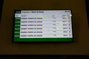 スペイン トレド駅の時刻表の写真素材 [FYI04102157]