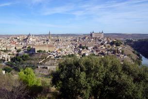 スペイン トレドの街並のパノラマの写真素材 [FYI04102160]