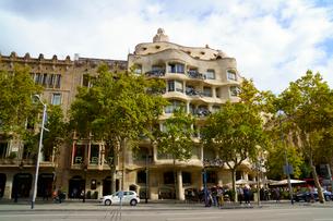 スペイン バルセロナのカサ・ミラの写真素材 [FYI04102199]