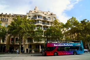 スペイン バルセロナのカサ・ミラの写真素材 [FYI04102203]
