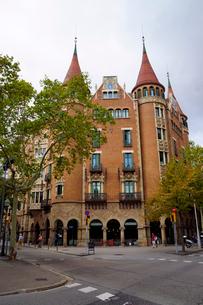 スペイン バルセロナのカサ・デ・ラス・プンシャスの写真素材 [FYI04102210]