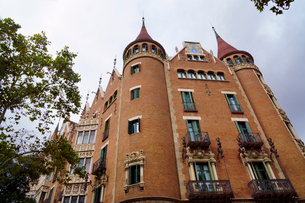 スペイン バルセロナのカサ・デ・ラス・プンシャスの写真素材 [FYI04102211]