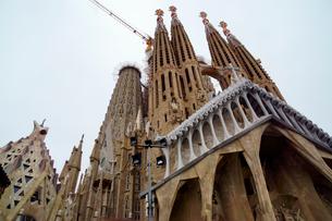 スペイン バルセロナのサグラダファミリアの写真素材 [FYI04102224]