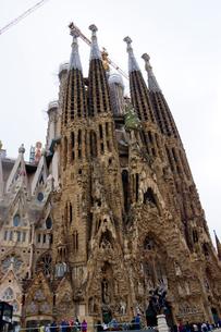 スペイン バルセロナのサグラダファミリアの写真素材 [FYI04102231]