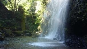 目の前に落ちてくる迫力の滝の写真素材 [FYI04102743]