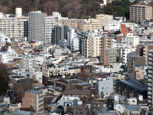 都心の住宅街の写真素材 [FYI04103007]