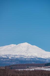 雪山の山頂と青空の写真素材 [FYI04103057]