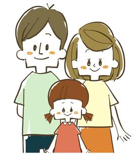 家族-親子-笑顔のイラスト素材 [FYI04103181]