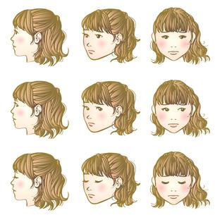 しょんぼり女子のイラスト素材 [FYI04103202]