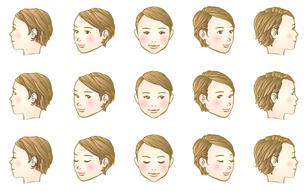 女子頭部180度のイラスト素材 [FYI04103204]