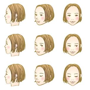 にっこり女子のイラスト素材 [FYI04103207]