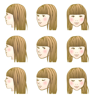 しょんぼり女子のイラスト素材 [FYI04103208]