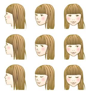 にっこり女子のイラスト素材 [FYI04103209]