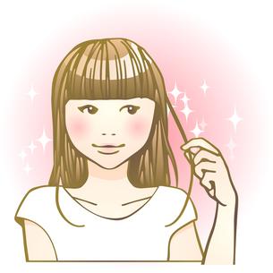 ビューティーヘア女子のイラスト素材 [FYI04103256]