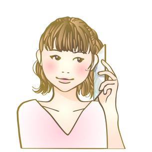 スマホ女子のイラスト素材 [FYI04103258]