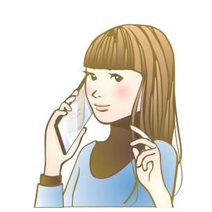 スマホ女子のイラスト素材 [FYI04103262]