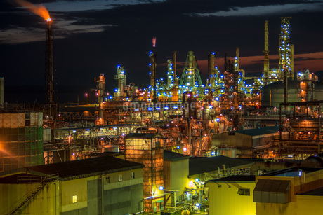 室蘭工場夜景の写真素材 [FYI04103331]