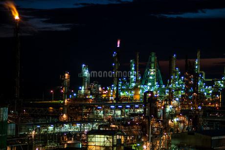 室蘭工場夜景の写真素材 [FYI04103332]