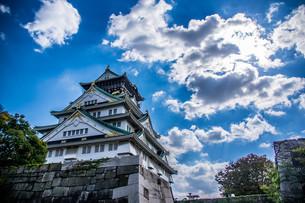 空と大阪城の写真素材 [FYI04103430]