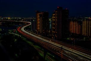 光の河 阪神高速道路の写真素材 [FYI04103436]