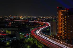 光の河 阪神高速道路の写真素材 [FYI04103437]