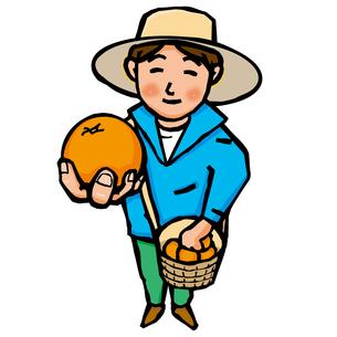 ミカン農家のイラスト素材 [FYI04103567]