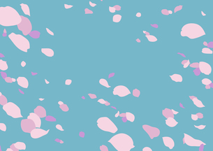 花吹雪(ターコイズブルー/線画無し)のイラスト素材 [FYI04103696]