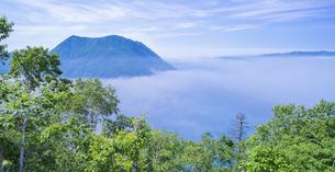北海道 自然 風景 パノラマ 摩周湖 (裏摩周)の写真素材 [FYI04105038]