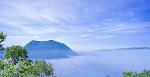 北海道 自然 風景 パノラマ 摩周湖 (裏摩周)の写真素材 [FYI04105040]