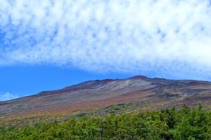 富士山5合目からの山頂の写真素材 [FYI04105298]