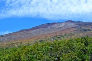 富士山5合目からの山頂の写真素材 [FYI04105299]