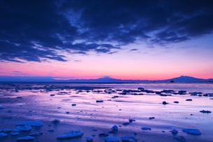 朝の流氷とオホーツク海の写真素材 [FYI04105493]