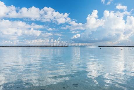 透き通る空と海の写真素材 [FYI04105787]
